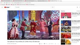 Ảnh chụp màn hình chương trình táo quân 2018 trên Youtube