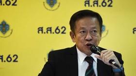 Tổng thư ký  Ủy ban Bầu cử (EC) Thái Lan Jarungvith Phumma công bố kết quả sơ bộ. Ảnh: AFP/TTXVN