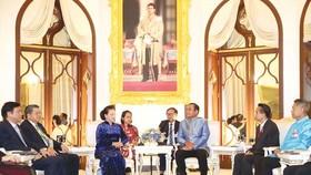 Chủ tịch Quốc hội Nguyễn Thị Kim Ngân hội kiến  Thủ tướng Thái Lan Prayut Chan-ocha. Ảnh: TTXVN
