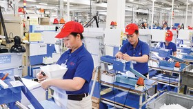 Công nhân làm việc tại Khu chế xuất Tân Thuận, quận 7, TPHCM. Ảnh: VIỆT DŨNG
