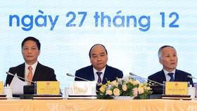 Thủ tướng Nguyễn  Xuân Phúc dự Hội nghị tổng kết công tác năm 2019 và triển khai nhiệm vụ năm 2020 của ngành công thương. Ảnh: TTXVN