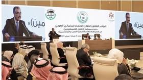 Phiên họp khẩn cấp lần thứ 30 của APU ra Tuyên bố phản đối Kế hoạch hòa bình Trung Đông của Mỹ.  Ảnh: Press TV