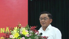 Đồng chí Trần Cẩm Tú, Bí thư Trung ương Đảng, Chủ nhiệm UBKT Trung ương phát biểu tại hội nghị