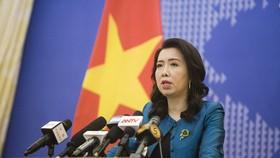 Người phát ngôn Bộ Ngoại giao Lê Thị Thu Hằng tại buổi họp báo thường kỳ của Bộ Ngoại giao chiều 15-10