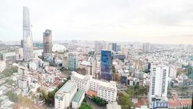 Một góc khu trung tâm TPHCM.  Ảnh: Huy Phan