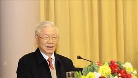 Tổng Bí thư, Chủ tịch nước Nguyễn Phú Trọng phát biểu tại hội nghị. Ảnh: TTXVN