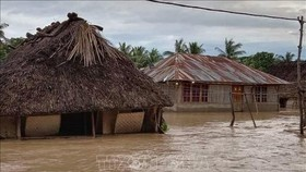 Cảnh ngập lụt do mưa lớn tại làng Haitimuk, Đông Flores, Indonesia. Ảnh:  AFP/TTXVN