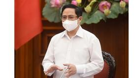 Thủ tướng Phạm Minh Chính phát biểu tại cuộc họp. Ảnh: VGP