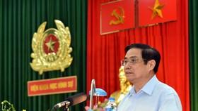 Thủ tướng Chính phủ Phạm Minh Chính phát biểu tại buổi làm việc.