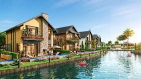 Độc đáo ngôi làng biệt thự dọc kênh đào Lagoon đầu tiên tại Hồ Tràm