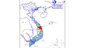 Mưa lớn ở khu vực từ Thừa Thiên - Huế đến Khánh Hòa