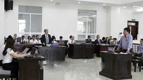 Bị cáo Đinh La Thăng, nguyên Chủ tịch Hội đồng Quản trị PVN tại phiên tòa