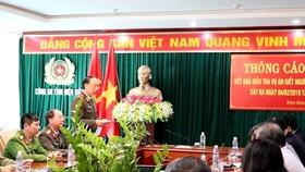 Thiếu tướng Sùng A Hồng thông tin về quá trình phá án