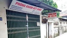Phòng khám Kết Châu đã bị niêm phong để phục vụ điều tra