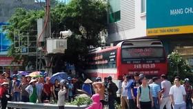 Đổ dốc cầu Bãi Cháy, xe khách mất lái gây tai nạn liên hoàn