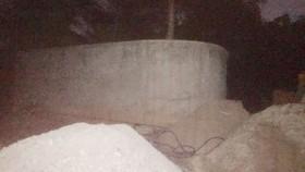 Lu nước ở khu mộ cổ nơi xảy ra vụ việc