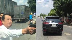 Bắt khẩn cấp giám đốc công ty bảo vệ rút súng dọa giết tài xế trên Quốc lộ 18