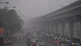 Chất lượng không khí ở Hà Nội lại cảnh báo đỏ, nguy hại sức khỏe