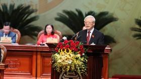 Tổng Bí thư, Chủ tịch nước Nguyễn Phú Trọng: Xây dựng Đảng bộ Hà Nội tiêu biểu, kiểu mẫu về mọi mặt