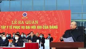 Bộ Y tế xuất quân, diễn tập phục vụ Đại hội Đảng