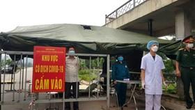 Một chốt kiểm soát dịch Covid-19 trên địa bàn huyện Thuận Thành, Bắc Ninh