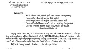 Bộ Y tế thu hồi công văn về phòng chống dịch Covid-19 bằng thuốc y học cổ truyền