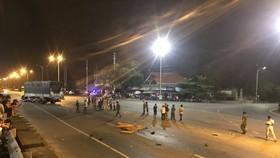 Va chạm giữa ô tô và xe máy, 2 người chết tại chỗ