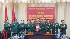 Đồng chí Thiếu tướng Bùi Đức Hạnh, Phó Tư lệnh BĐBP chứng kiến bàn giao chức trách nhiệm vụ Chỉ huy trưởng BĐBP tỉnh Thừa Thiên – Huế 