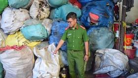 9 bao tải rác thải y tế bị phát hiện