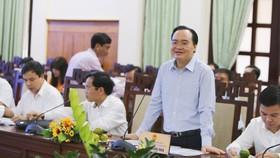Bộ trưởng Phùng Xuân Nhạ phát biểu tại buổi làm việc 