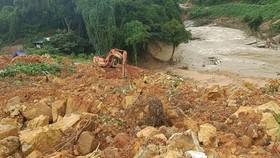 Thời tiết bất lợi cho công tác cứu hộ tại thủy điện Rào Trăng 3