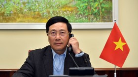 Phó Thủ tướng, Bộ trưởng Ngoại giao Phạm Bình Minh điện đàm với Ngoại trưởng Hoa Kỳ Michael R. Pompeo