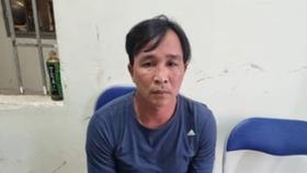 Đối tượng Nguyễn Thế Hòa lúc mới bị bắt  