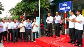 Từ sáng 17-6-2017, tại huyện Hương Sơn, tỉnh Hà Tĩnh đã chính thức có tuyến đường mang tên Trần Kim Xuyến
