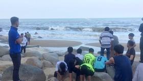 Khu vực biển Thiên Cầm, nơi xảy ra sự việc