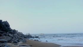 Khu vực biển Thiên Cầm, nơi xảy ra sự việc đuối nước thương tâm vào chiều ngày 13-11