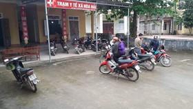 Trạm Y tế xã Hòa Hải, nơi đang điều trị cho nhiều trường hợp bị ngộ độc thực phẩm