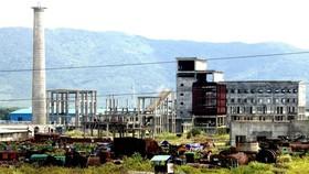 Một góc dự án nhà máy thép Vạn Lợi ở Khu kinh tế Vũng Áng