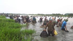 Người dân nô nức tham gia lễ hội đánh cá Đồng Hoa