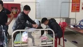 Em Trần X. Nh. đang được điều trị tại bệnh viện