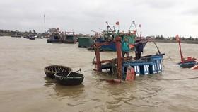 Hiện trường tàu cá bị chìm