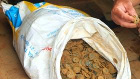 Tiền xu cổ được phát hiện