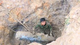 Hà Tĩnh xử lý 2 quả bom còn sót lại sau chiến tranh