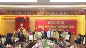 Lãnh đạo Tỉnh ủy, UBND tỉnh Hà Tĩnh tặng hoa chúc mừng các đồng chí được bổ nhiệm