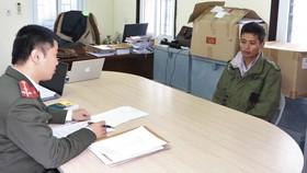 Bị can Nguyễn Ngọc Hoàn tại cơ quan điều tra. Ảnh: Công an Hà Tĩnh cung cấp