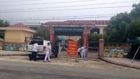 Cơ sở cách ly tập trung Trường Mầm non Tân Giang, TP Hà Tĩnh