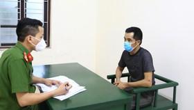 Cơ quan Công an làm việc với đối tượng Nguyễn Quốc Nhật