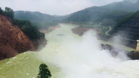 Một góc hồ chứa nước Kẻ Gỗ