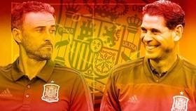 Enrique (trái) có nhiều sự thay đổi so với thời của Hierro. Ảnh Marca.
