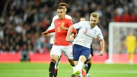 Luke Shaw (phải) chơi khá tốt trước khi gặp xui rủi chấn thương. Ảnh: Getty Images
